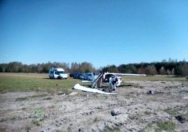Samolot zahaczył o linie energetyczne. Spadł na pas startowy
