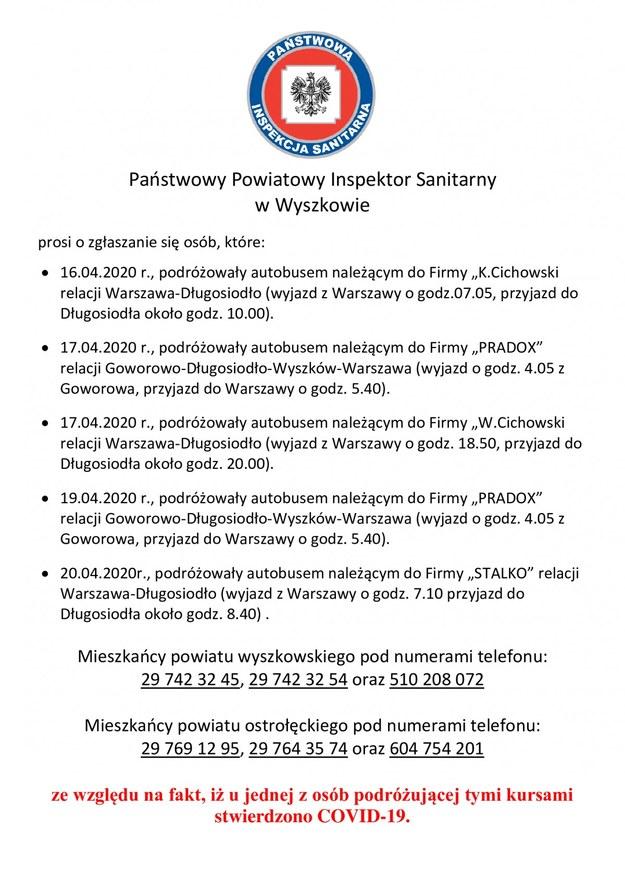 /Powiatowa Stacja Sanitarno-Epidemiologiczna w Wyszkowie /