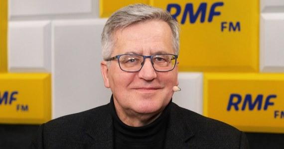 """""""Małgorzata Kidawa-Błońska zapłaciła – w moim przekonaniu – sporą cenę w notowaniach wyborczych m.in. za to, że miała odwagę powiedzieć, że nie należy głosować, nie należy organizować kampanii wyborczej w warunkach zagrożenia poszerzenia się epidemii"""" – powiedział w Popołudniowej rozmowie w RMF FM Bronisław Komorowski."""