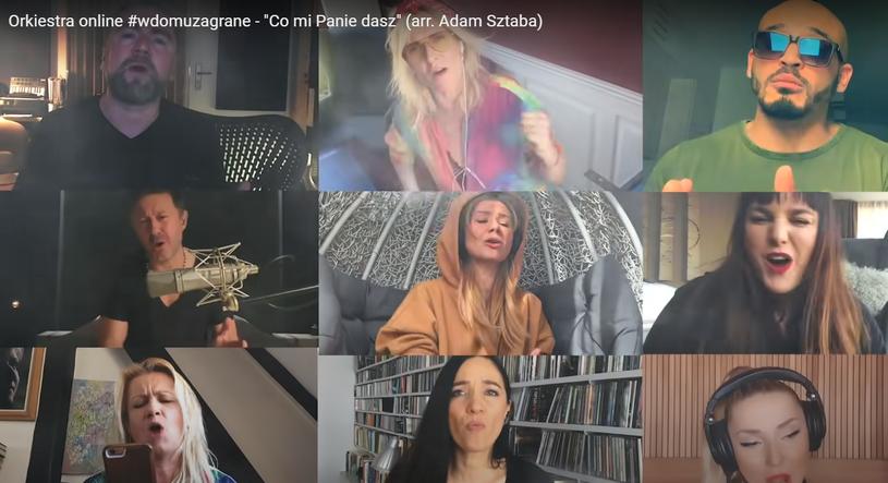 """Już ponad 3,4 mln odsłon ma wideo z niezwykłym coverem przeboju """"Co mi Panie dasz"""" grupy Bajm. Za projekt z udziałem wielu gwiazd odpowiada Adam Sztaba, który opracował aranżację piosenki."""