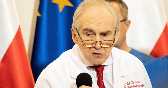 """""""Ja myślę, że jeżeli dzisiaj możemy powiedzieć, że nie ma sytuacji włoskiej czy hiszpańskiej, gdzie chorzy umierali w przedsionkach szpitali, tylko szpitale jednoimienne stworzyły szansę, to jest powód do dumy"""" - mówił w Polsat News prof. Marian Zembala, dyrektor Śląskiego Centrum Chorób Serca w Zabrzu i były minister zdrowia."""