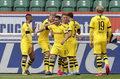 VfL Wolfsburg - Borussia Dortmund 0-2 w 27. kolejce Bundesligi