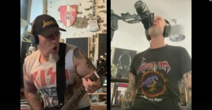 """Jeff """"Mantas"""" Dunn, były gitarzysta Venom, i Nergal z Behemotha wykonali wspólnie klasyczny utwór Venom."""