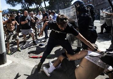 Wiec neofaszystów w Rzymie. Doszło do starć z policją