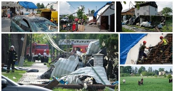 Nad Kaniowem w województwie śląskim przeszła trąba powietrzna. Uszkodziła ona kilkadziesiąt zabudowań. Z niektórych budynków wiatr pozrywał dach.