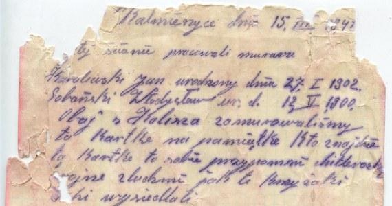 Niezwykłego odkrycia dokonano w budynku dworca kolejowego w wielkopolskich Nowych Skalmierzycach: w trakcie remontu zabytkowej poczekalni dworca pracownicy znaleźli zamurowaną w ścianie butelkę, a w niej list napisany w 1941 roku!