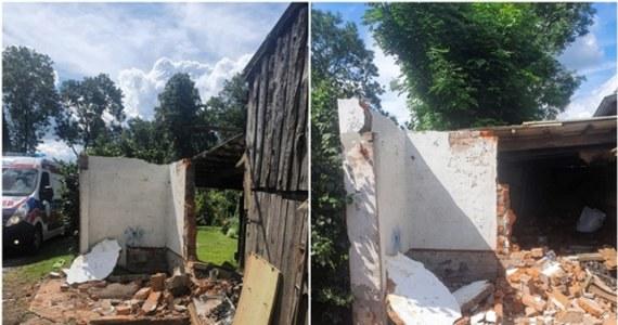 Mężczyzna został ciężko ranny po tym.... jak zawalił się na niego betonowy dach budynku w miejscowości Boręty w pobliżu Malborka na Pomorzu.