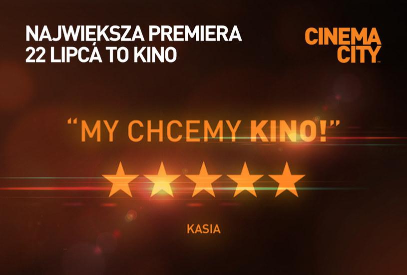 Najbliższa środa, 22 lipca, to długo wyczekiwany dzień przez kinomanów w całej Polsce. Wszystkie sale kinowe Cinema City zostaną ponownie otwarte. Sieć kin przygotowała dla widzów specjalny repertuar we wszystkich formatach, w tym IMAX, 4DX i VIP.