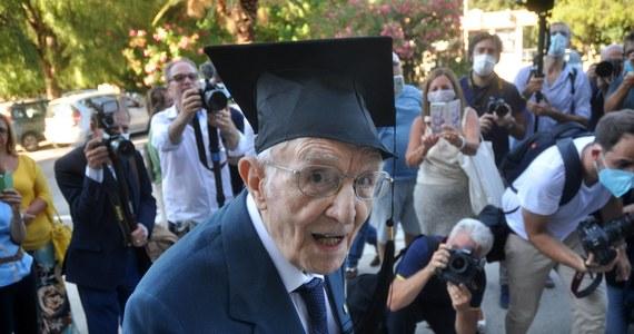 """""""Teraz albo nigdy"""" - pomyślał przed trzema laty Giuseppe Paterno i zapisał się na uniwersytet w Palermo na Sycylii. W tym tygodniu obronił licencjat. I nie byłoby w tym nic dziwnego, gdyby nie fakt, że absolwent ten ma 96 lat."""