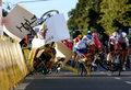 Kraksa na Tour de Pologne. Fabio Jakobsen w stanie stabilnym