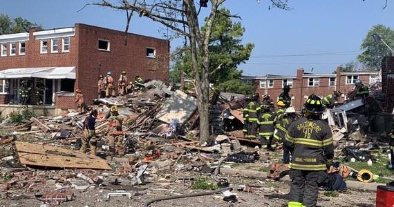 W Baltimore w USA duża eksplozja zniszczyła kilka budynków – podaje Reuters powołując się na media lokalne. Do tej pory straż pożarna poinformowała o jednej ofierze śmiertelnej, co najmniej siedem osób zostało ciężko rannych.