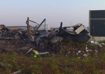 Makabryczny wypadek koło Lublina. Znaleziono zwęglone zwłoki kierowcy