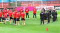 Poniedziałkowy trening reprezentacji Polski przed meczami Ligi Narodów. Wideo