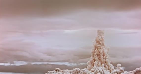 """Rosjanie opublikowali archiwalny materiał filmowy, na którym widać wybuch największej wyprodukowanej do tej pory bomby wodorowej. Test """"car bomby"""", bo tak ją pieszczotliwie nazwano, Związek Radziecki przeprowadził 59 lat temu."""