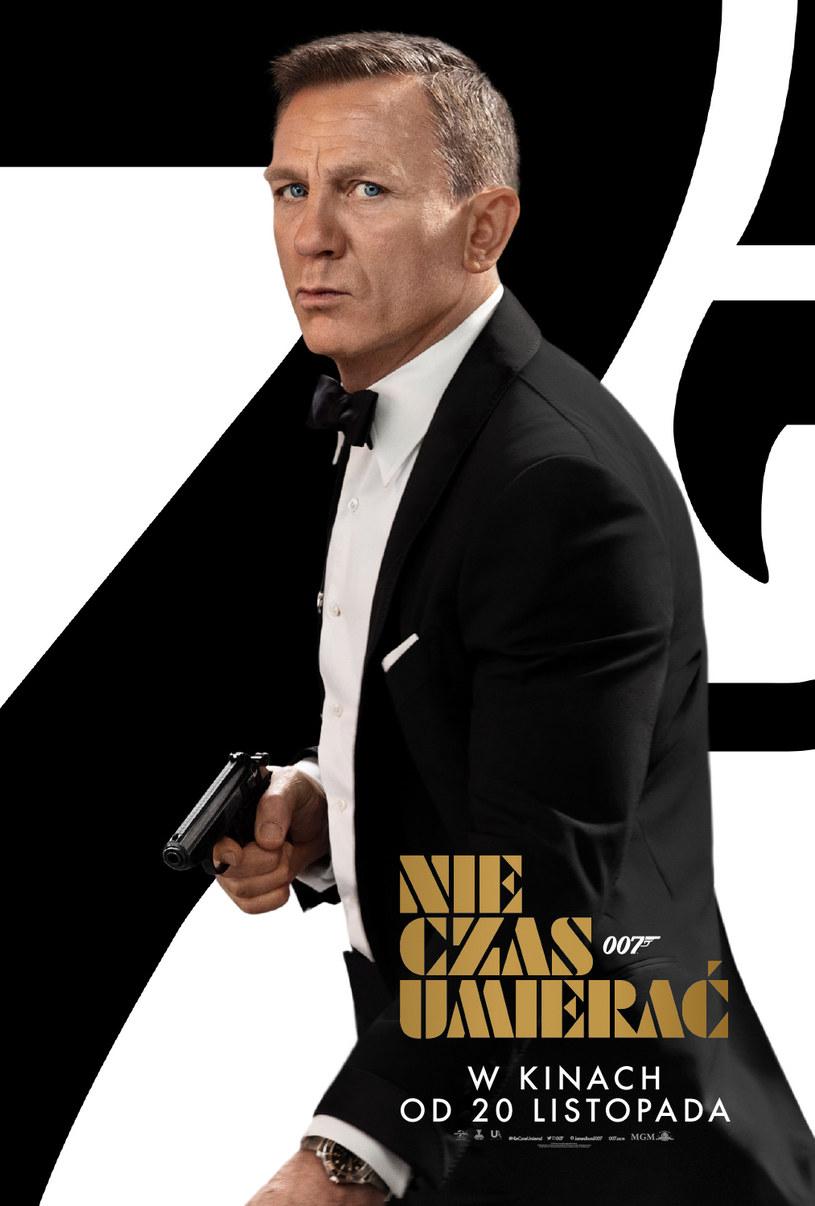 """25. film o przygodach Jamesa Bonda """"Nie czas umierać"""" trafi na ekrany polskich kin 20 listopada. Dystrybutor obrazu zaprezentował nowy plakat produkcji."""