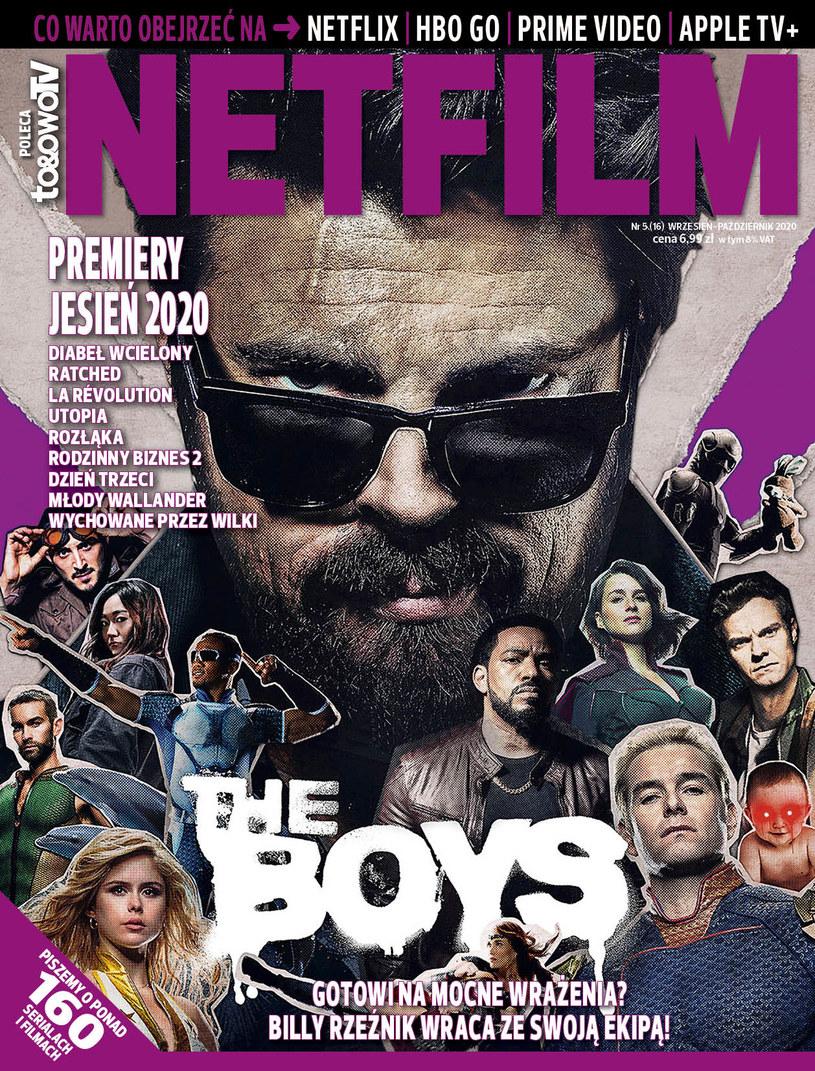 W piątym w 2020 roku numerze magazynu NETFILM (w sprzedaży od 1 września) znajdziecie recenzje i opisy ponad 160 filmów i seriali dostępnych w ofercie Netfliksa, HBO GO, Amazon Prime Video i Apple TV+.