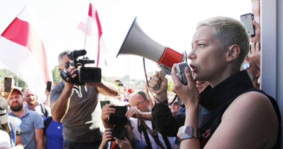 Maryja Kalesnikawa, współpracowniczka byłej kandydatki na prezydenta Białorusi Swiatłany Cichanouskiej, zatrzymana w centrum Mińska. Informacje o porwaniu z ulicy tej działaczki opozycyjnej Rady Koordynacyjnej podają media w oparciu o relacje świadków.