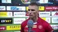 Widzew - ŁKS. Marcin Robak: Ciężko powiedzieć cokolwiek po takim meczu. Wideo