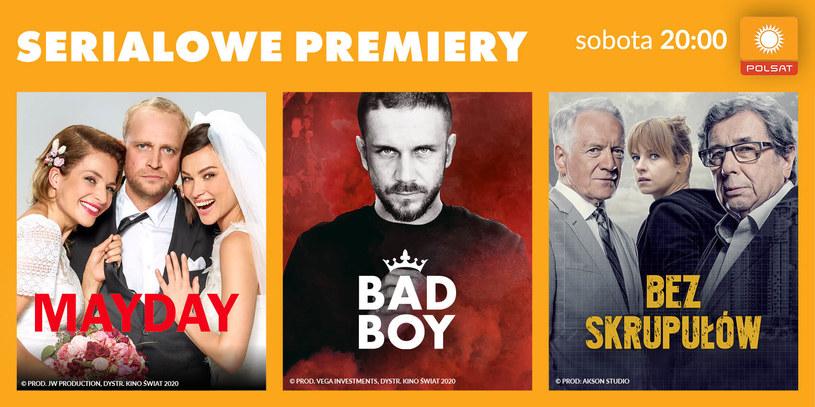 """Od 3 października, w soboty o godzinie 20:00, widzowie Polsatu będą oglądać premierowo serialowe wersje polskich, kinowych hitów: """"Mayday"""", """"Bad Boy"""" oraz """"Bez skrupułów""""."""