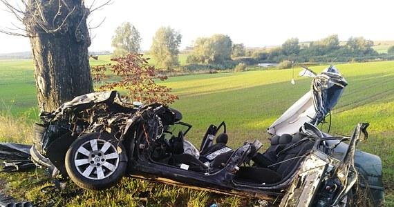 W Gołębiewku (gm. Trąbki Wielkie) na Pomorzu doszło do śmiertelnego wypadku. Na miejscu zginął 35-latek kierujący skodą. Z auta niewiele zostało.