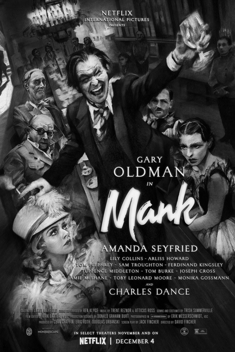 """Ofensywa marketingowa najnowszego filmu Davida Finchera """"Mank"""" weszła w decydującą fazę. Jednego dnia zaprezentowany został plakat tej oczekiwanej produkcji oraz pełny jej zwiastun. Premiera obrazu """"Mank"""" na platformie streamingowej Netflix została zapowiedziana na 4 grudnia tego roku"""