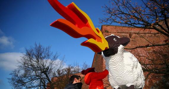 Owca ziejąca ogniem, zbudowana z kilkunasty tysięcy klocków lego została ustawiona w sobotę przy pomniku Smoka Wawelskiego u stóp Wzgórza Wawelskiego w Krakowie. Instalacja powstała z okazji przypadającego w tym dniu Światowego Dnia Życzliwości.