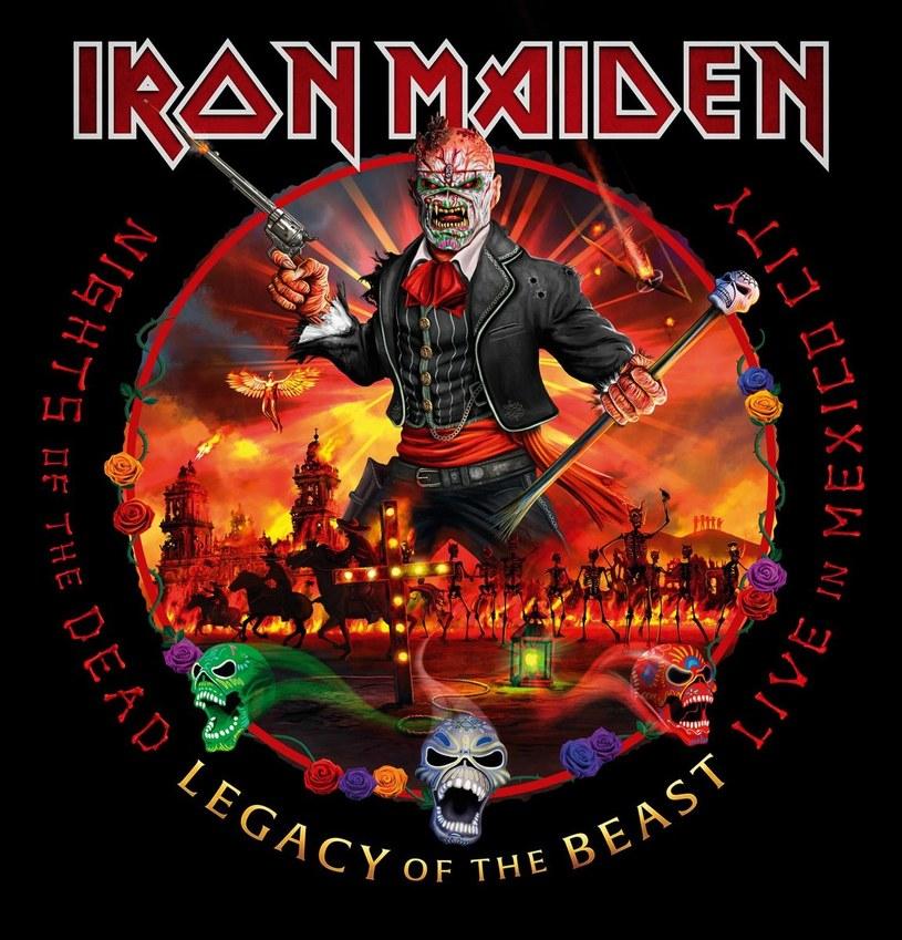 """Do sklepów trafił podwójny koncertowy album legendy heavy metalu - Iron Maiden. Materiał """"Nights Of The Dead - Legacy Of The Beast, Live in Mexico City"""" zarejestrowano podczas trzech wyprzedanych występów we wrześniu 2019 r. w Meksyku."""