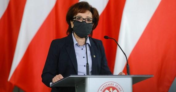 """Marszałek Sejmu Elżbieta Witek napisała list do przewodniczącej Izby Reprezentantów Królestwa Niderlandów Khadiji Arib, w którym wyraziła """"zdumienie"""" i """"rozczarowanie"""" przyjęciem przez tę izbę wniosku wzywającego holenderski rząd do złożenia skargi przeciwko Polsce do TSUE."""
