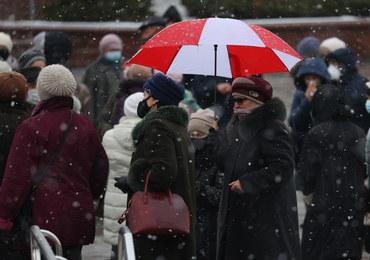 Kilkadziesiąt osób zatrzymanych na marszu emerytów w Mińsku