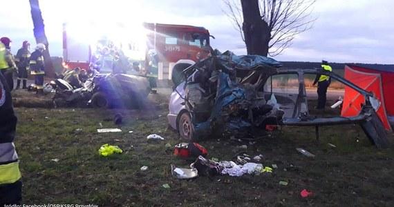 """""""Kobieta i miesięczne dziecko zginęli w wypadku, do którego doszło w piątek po południu w Nowej Wsi w powiecie piotrkowskim (Łódzkie)"""" - poinformował  rzecznik prasowy łódzkiej straży pożarnej mł. brygadier Jędrzej Pawlak. Samochód zderzył się z dzikiem, a następnie uderzył w drzewo."""