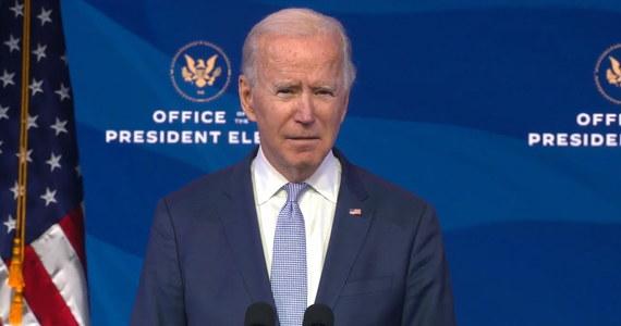 """Prezydent-elekt Joe Biden w swoim wystąpieniu nazwał wtargnięcie zwolenników Donalda Trumpa do Kapitolu """"napaścią"""" na demokrację."""
