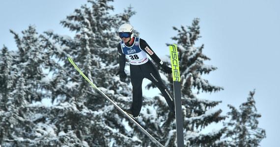 """""""Radość jest"""" - podsumował Andrzej Stękała swoje piąte miejsce, najwyższe z Polaków, w niedzielnym konkursie Pucharu Świata w skokach narciarskich w Zakopanem. Wygrał Norweg Marius Lindvik, przed Słoweńcem Anze Laniskiem oraz swoim rodakiem Robertem Johanssonem."""