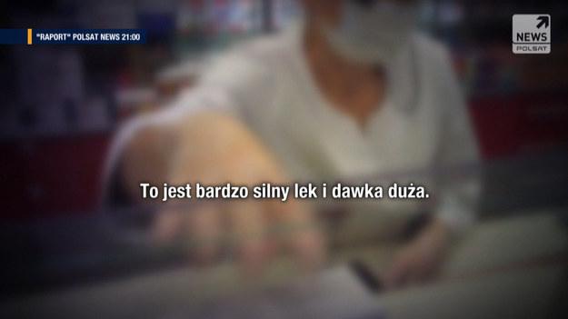 """Silne psychotropowe leki dostępne na wyciągnięcie ręki - reporterka programu """"Raport"""" Monika Gawrońska zdobyła recepty na proszki, których przyjmowanie powinno być pod szczególną kontrolą specjalistów. Wszystkie recepty pochodzą z legalnego źródła.  Program """"Raport"""" w Polsat News codziennie, od poniedziałku do piątku o 21:00."""