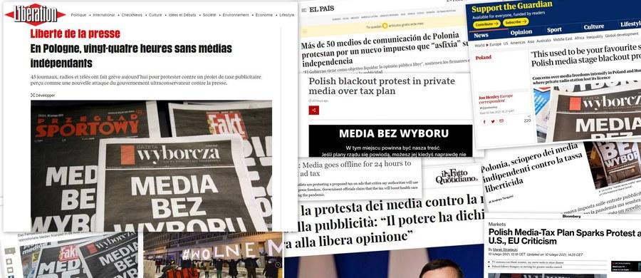 10 lutego 2021 roku o poranku komercyjne media w Polsce zamilkły: niemal wszystkie niezależne od władzy stacje radiowe i telewizyjne oraz portale internetowe – wśród nich oczywiście RMF FM i RMF24.pl – przyłączyły się do protestu przeciwko planowanemu przez rząd dodatkowemu podatkowi od reklam emitowanych w telewizji, radiu i internecie. Ja te wydarzenia w Polsce były relacjonowane za granicą?