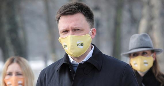 """Nie ma planów wspólnego pójścia do wyborów z PO, bo o tym nie rozmawiamy, to są wszystko wydarzenia medialne - powiedział piątkowemu """"Super Expressowi"""" lider ruchu Polska 2050 Szymon Hołownia."""