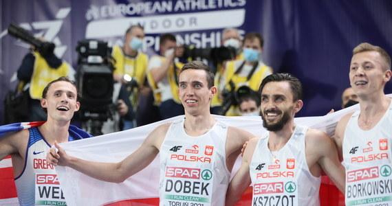 Patryk Dobek został w Toruniu sensacyjnie halowym mistrzem Europy na 800 m. Srebro wywalczył Mateusz Borkowski. Brązowy medal zdobył Brytyjczyk Jamie Webb. Adam Kszczot był czwarty.