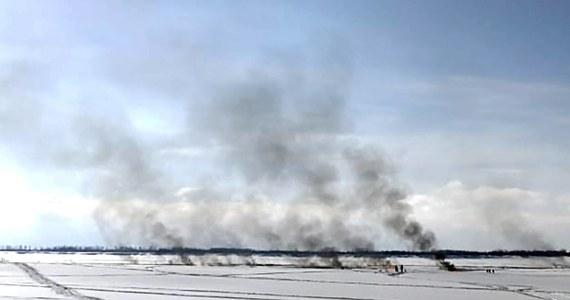 W Chanty-Mansyjskim Okręgu Autonomicznym na Syberii Zachodniej doszło do wycieku z rurociągu firmy SiburTiumeńGaz. Wybuchł pożar. Władze Rosji oceniły w niedzielę, że w tej części podwodnego rurociągu mogło być około 700 ton produktów naftowych.