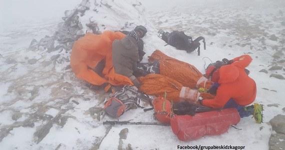 20 ratowników Grupy Beskidzkiej GOPR wzięło udział we wczorajszej akcji ratunkowej w rejonie Babiej Góry. Pomocy potrzebowała grupa turystów. Trzy osoby trafiły do szpitala.