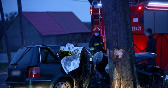 Dwóch młodych mężczyzn zginęło w wypadku na drodze wojewódzkiej nr 132 w Dąbroszynie niedaleko Kostrzyna nad Odrą (Lubuskie). Auto, którym podróżowali, uderzyło w drzewo.