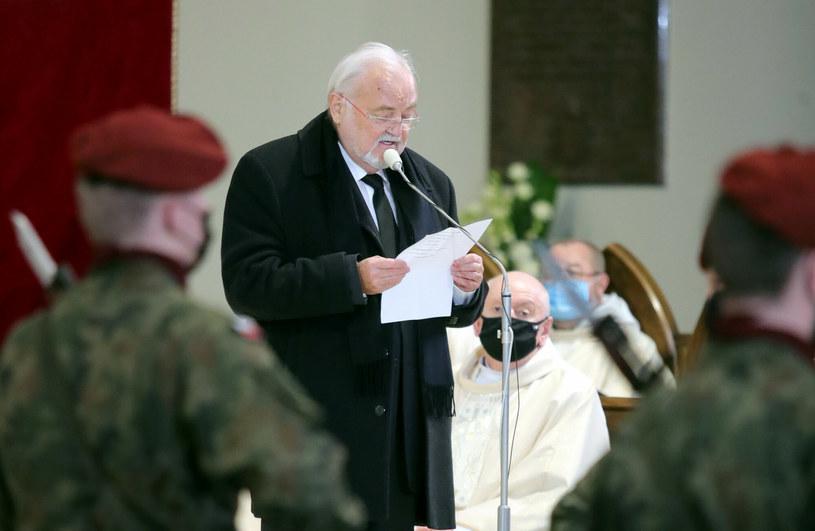Andrzej Kosmala, wieloletni menedżer Krzysztofa Krawczyka, pożegnał w Kościele swojego przyjaciela.