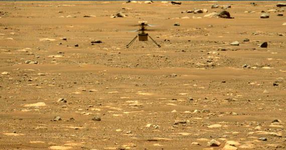 NASA przeprowadziła na Marsie kolejny udany test z udziałem helikopterka Ingenuity. Tym razem lot trwał blisko 52 sekundy, dron wzniósł się na wysokość 5 metrów i wykonał kilka dodatkowych manewrów. Dane telemetryczne z Marsa wskazują na to, że urządzenie jest w znakomitym stanie, kontrola lotu analizuje teraz jak zaplanować kolejne trzy testowe loty tak, by jak najpełniej sprawdzić możliwości drona. Zostało na nie niespełna dwa tygodnie. Po upływie miesiąca - od chwili postawienia Ingenuity na marsjańskim gruncie - sonda Perseverance ma się zająć już zasadniczymi elementami misji.