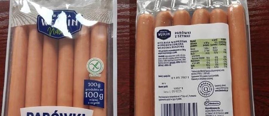 """Główny Inspektorat Sanitarny poinformował o wycofaniu partii produktu """"Parówki z szynki Kraina Wędlin Nature"""". Powodem jest wykrycie bakterii Listeria monocytogenes."""
