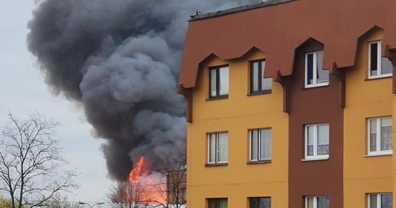 W ciągu niespełna dwóch godzin strażakom udało się opanować pożar hali magazynowej w Dąbrowie Górniczej. Płonęła hala przy ul. Chemicznej o powierzchni około 2,5 tysiąca metrów kwadratowych, w której składowane były drewniane palety i materiały z tworzyw sztucznych.