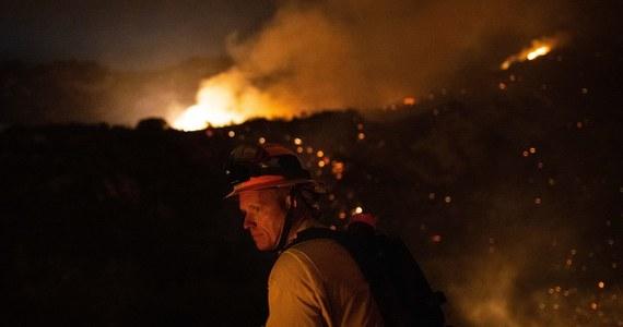 W południowej Kalifornii w walce z pożarem na terenie większym niż 536 hektarów, który rozgorzał w piątek w nocy i dotąd nie udało się go opanować, zaangażowanych jest 540 strażaków. Władze poinformowały o aresztowaniu podejrzanego o podłożenie ognia.