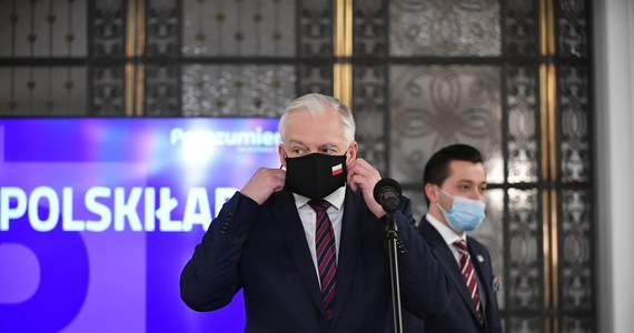 """Gdyby nasi partnerzy koalicyjni zamierzali rządzić z Lewicą, to byłby to koniec projektu Zjednoczonej Prawicy - mówi w czwartkowej """"Rzeczpospolitej"""" wicepremier, szef Porozumienia Jarosław Gowin."""