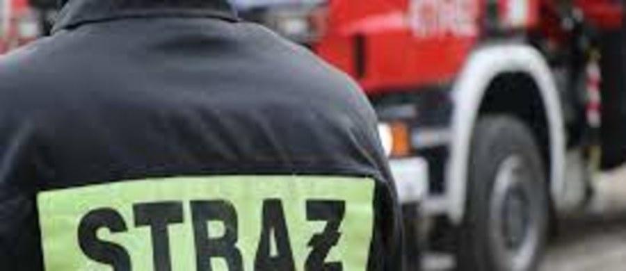"""Pożar wybuchł w hali zakładu, który zajmuje się wytwarzaniem biokomponentów i biopaliw w Kałdusie koło Chełmna w woj. kujawsko-pomorskim. """"Ogień objął tylko część pomieszczeń pozaprodukcyjnych"""" - poinformował oficer dyżurny Komendy Wojewódzkiej PSP w Toruniu."""
