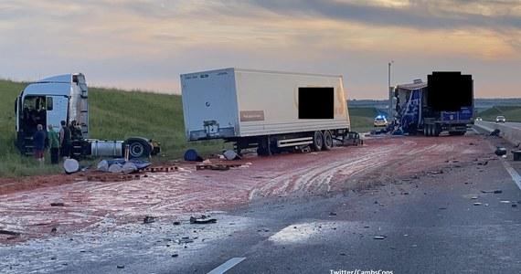 Do niecodziennego wypadku doszło na drodze A14 w pobliżu miejscowości Godmanchester. Po zderzeniu ciężarówek na jezdnię rozlały się litry… przecieru pomidorowego. Służby musiały zamknąć 37-kilometrowy odcinek drogi.