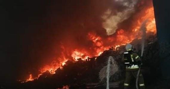 Jeszcze osiem zastępów straży pożarnej uczestniczy dogaszaniu pożaru składowiska odpadów w Przysiece Polskiej w powiecie kościańskim (Wielkopolskie). Działania trwały od czwartkowego poranka, paliły się dwie hałdy przetworzonych tworzyw sztucznych.