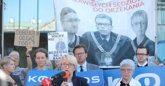 Rano Izba Dyscyplinarna Sądu Najwyższego wznowiła posiedzenie ws. sędzi Beaty Morawiec. Izba ma rozpatrzyć zażalenie krakowskiej sędzi na wcześniejszą decyzję o uchyleniu jej immunitetu i odsunięciu od orzekania.