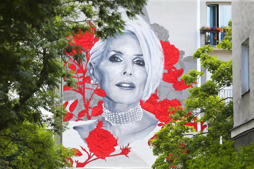 Na stołecznych Bielanach odsłonięto mural z wizerunkiem Kory w 70. urodziny artystki. Mural będzie otaczać będzie 320 krzewów.